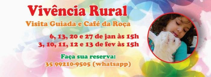 Vivencia Rural- Visita Guiada e Café da Roça - Sítio Lagoa Seca