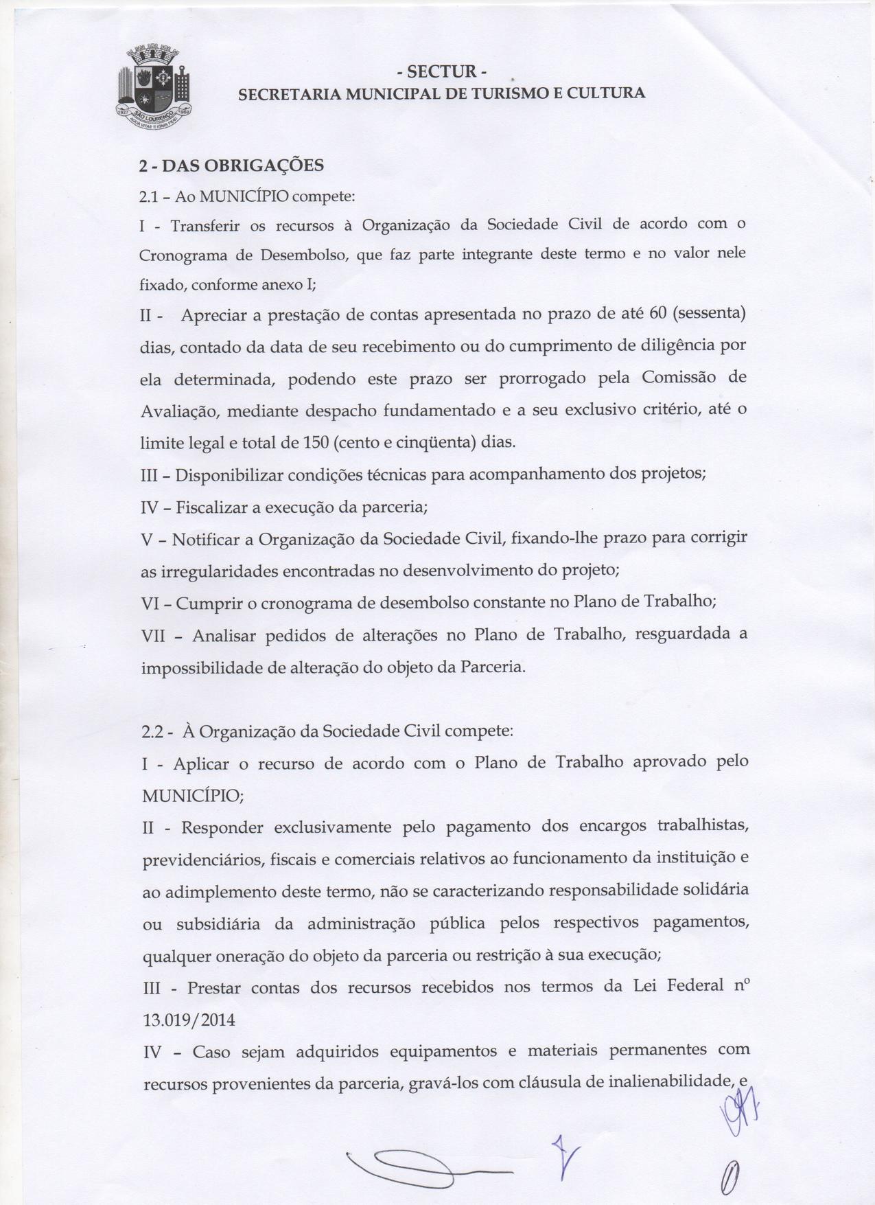 São Lourenço CVB - Prestação de Contas